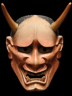 Japanese Noh mask -Aka Hannya- 赤般若 by Ichiyu TERAI, Japan