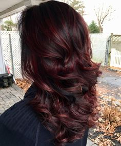 Hairstyles:Red purple ombre hair color captivating 45 shades of burgundy hair dark burgundy maroon Dark Burgundy Hair Color, Burgundy Balayage, Black Hair With Highlights, Dark Red Hair, Hair Color Highlights, Ombre Hair Color, Hair Color Balayage, Red Purple, Black Cherry Hair Color