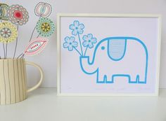 Jane Foster Blog: Jane Foster's new lion and elephant screen prints