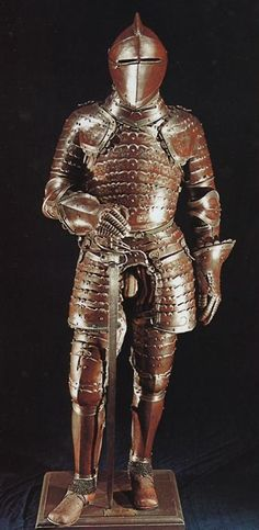 "Unusual Late 16th century Italian ""anime"" armour"