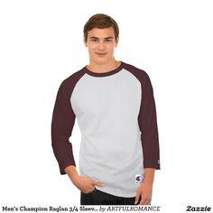 Men's Champion Raglan 3/4 Sleeve Shirt MAROON