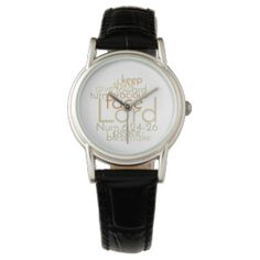 Christian Priestly Blessing Women's Leather Watch