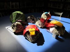 Avengers Assemble!  Marvel's Avengers in repurposed book hedgehog form.  For a teen program and general display!