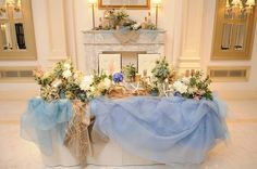 Table Arrangements For Wedding Receptions – Bridezilla Flowers Wedding Receptions, Wedding Table, Summer Wedding, Dream Wedding, Blue Bouquet, Sweetheart Table, Wedding Coordinator, Confetti, Table Decorations