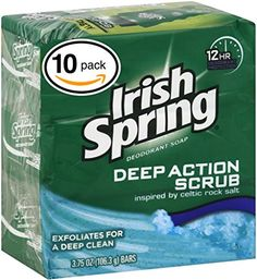 PACK OF 10 BARS Irish Spring MOISTURE BLAST SCENT Bar Soap for Men  Women 12HOUR ODOR  DEODORANT PROTECTION For Healthy Feeling Skin Great for Hands Face  Body 10 Bars 375oz Each Bar -- This is an Amazon Affiliate link. See this great product.