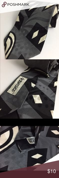 """Men's SCREENPLAY 100% Silk Necktie Length: 57 inches Width at widest point: 3 1/2"""" SCREENPLAY Accessories Ties"""
