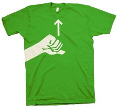 ASL sign for 'pride'! I like this shirt! I want to give these to my kids as graduation presents!