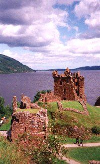 Urquhart Castle, Drumnadrochit Scotland. Amazing setting along the banks of Loch Ness.
