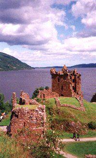 Urquhart Castle, Drumnadrochit Scotland.  Amazing setting along the banks of Loch Ness.