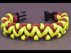 """How to Make the """"Rock Climber"""" Paracord Survival Bracelet - BoredParacord - YouTube"""