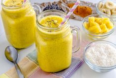 Fruit Smoothie Made With Pineapple