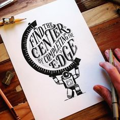 Gorgeous Hand-Lettering Work by Travis Stewart – Inspiration Grid Hand Lettering Quotes, Creative Lettering, Typography Quotes, Brush Lettering, Graphic Design Typography, Lettering Design, Notebook Drawing, Drawing Journal, Moleskine