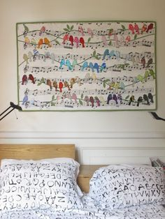 Love the birds and musical notes quilt!.