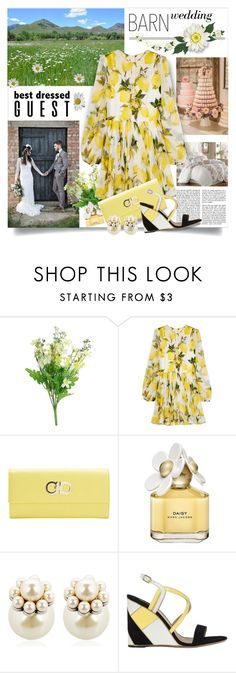 """Barn chic"" by pumsiks ❤ liked on Polyvore featuring Dolce&Gabbana, Salvatore Ferragamo, Marc Jacobs, Mawi, contest, Ferragamo, dolceandgabbana, bestdressedguest and barnwedding"