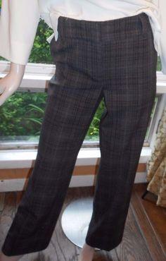 $15.99 & Free Shipping! Dalia Collection Size 8 Rayon Blend Cold Weather Gray Plaid Pants #Dalia #DressPants