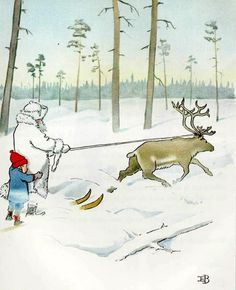 Elsa Beskow (1874 – 1953, Swedish)  Ollie's Ski Trip 2