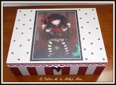 El Taller de la Artes Ana: Transfer Decoupage Box, Cardboard Crafts, Hocus Pocus, Frame, Mary, Vintage, Home Decor, Custom Crates, Ideas