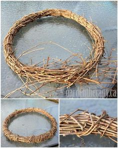 DIY vine wreath from grapevine, virginia creeper, wisteria  (Medium)