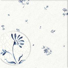 Tapete mit Blüten ELSE-MARIE blau von Sandberg