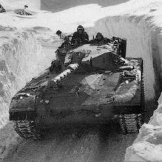 Merkava Mk I during patrol near Mount Hermon on Israel-Syrian border.