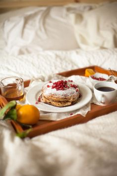 Breakfast In Bed | Meyer Lemon Ricotta Pancakes