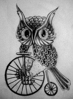 'Owl on a Bike' by Cadet Craig ....could this BE anymore perfect??!?