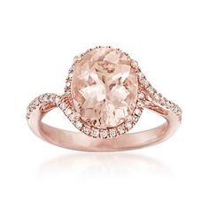 With its marvelous pink hue, a 3.10 carat oval morganite finds an ideal complement in this 14kt rose gold ring. Kindled with .25 ct. t.w. of round brilliant-cut diamonds. 14kt rose gold ring. Free shipping & easy 30-day returns. Fabulous jewelry. Great prices. Since 1952.