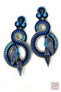 Icarus blue show stopping earrings by Dori Csengeri. #DoriCsengeri #blue #hoops #earrings #spring #trends