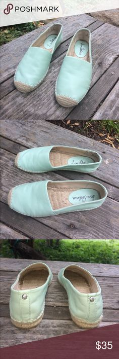 "🌺 Sam Edelman - Beautiful Mint Flats Wmn. Size 6M So Pretty & Perfect for Spring, Summer & Vacation! Sold-Out in Stores! Sam Edelman ""Lynn"" Mint Flats (Espadrille Slip-On with jute wrapped midsole and toe guard) in Women's Size 6 Medium. Leather Upper, Balance Man-Made. In good, pre-owned condition! Thank you for shopping here! Please check out other quality, name brand & unique items in my Closet. Bundle additional items to save 💰. I 💖my Posher Pals! Debbie 💃💃💃 Sam Edelman Shoes Flats…"