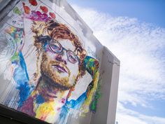 A giant street art mural of pop star Ed Sheeran has been painted in Dunedin, New Zealand, in celebration of his forthcoming three concerts there. Cool Photos, Interesting Photos, Watercolor Tattoo, Watercolour, Ed Sheeran, New Zealand, Graffiti, Street Art, Sculptures