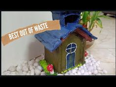 waste materials craft ideas   how to make tiny house with the help of cardboard   home decore - YouTube Easy Christmas Crafts, Easy Crafts For Kids, Simple Christmas, Origami Stars, Diy Origami, Cork Crafts, Diy Crafts, Craft From Waste Material, Letter Wall Art