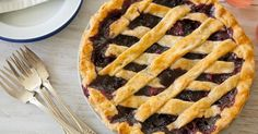 Cooking Lessons: The pies have it: blueberry and then some pie recipe and a lattice crust tutorial Triple Berry Pie, Mixed Berry Pie, Pie Recipes, Crockpot Recipes, Dessert Recipes, Fruit Dessert, Blackberry Pie, Yummy Food, Desert Recipes