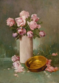 Soren Emil Carlsen (Danish-American, 1853-1932). Roses, 1895. Charles and Emma Frye Collection, 1952.023