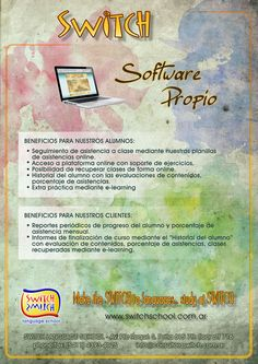 Switch - Brochures Software, Brochures, Language, Bullet Journal, Training, Classroom Attendance, Coaching, Catalog, Speech And Language
