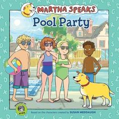After Alice mistakes sun bronzer for sun block, Martha, Helen, and friends try to find a way for Alice to still go to the party and feel comfortable in her own skin. This Martha Speaks Pool Party Book includes a fun sun protection kit activity. Fun Summer Activities, Kindergarten Activities, Martha Speaks, Pool Party Kids, Ty Toys, Pbs Kids, I Love The Beach, Book Tv, Reading Levels