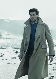 ♂ Masculine and elegance man with long winter coat David James Gandy