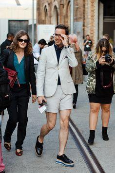 Short, blazer & Prada shoes