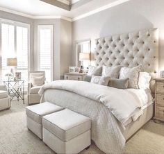 Phenomenal Remodel bedroom into closet,Bedroom designs luxury and Small bedroom decorating ideas images. Master Bedroom Design, Dream Bedroom, Home Bedroom, Girls Bedroom, Bedroom Designs, Bedroom Styles, Taupe Bedroom, Bed Designs, Bedroom Colors