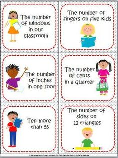 Primary Inspiration: Expressions for Numbers - All Shined Up! Class 1 Maths, 1st Grade Math Games, Kids Jokes And Riddles, Jokes For Kids, Math Rotations, Math Centers, Library Activities, Educational Activities, Daily Five Math