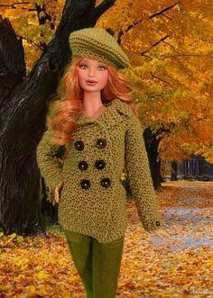 Barbie ruiva, no outono
