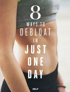 Feeling bloated? Whether it's from your period or just a little overindulging from last night, bloating can be a major self-esteem killer. Click for 8 simple ways to debloat in just one day!