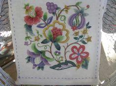Elsa Williams Jeweled Jacobean Pillow
