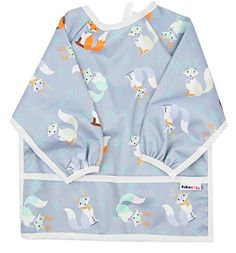 Waterproof bib with sleeves - lightweight long sleeve bibs with ties and feeding pocket, best for infant, smock, toddler, baby 6-24 months girl and boy (Deers). For product info go to: https://all4babies.co.business/waterproof-bib-with-sleeves-lightweight-long-sleeve-bibs-with-ties-and-feeding-pocket-best-for-infant-smock-toddler-baby-6-24-months-girl-and-boy-deers/