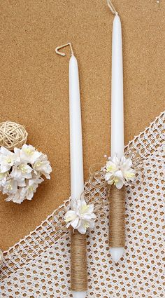 Rustic Wedding banner Favors sign Burlap banner Burlap wedding banner Wedding Favors banner with burlap and lace Rustic Wedding Unity Candles Rustic Wedding Decor by AniArts Wedding Unity Candles, Rustic Candles, Diy Candles, Candle Centerpieces, Burlap Banner Wedding, Burlap Banners, Baptism Candle, Greek Easter, Diy Ostern