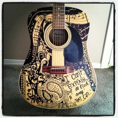My sharpie guitar(: February 2013