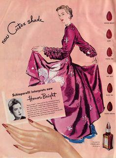 Elsa Schiaparelli's 'Honor Bright' Nail Polish ~Vintage 1945~