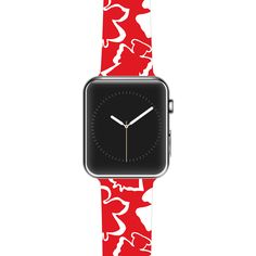 "Miranda Mol ""Dancing Angels"" Red White Apple Watch Strap"