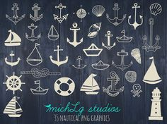 35 Nautical PNG graphics/ clip art by michLgstudios on Etsy