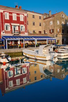 Cres old Town harbour with small local fising boats, Cres Island, Croatia Best Countries In Europe, Croatian Islands, Pictures Images, Montenegro, Slovenia, Color Photography, Continents, Old Town, Buildings