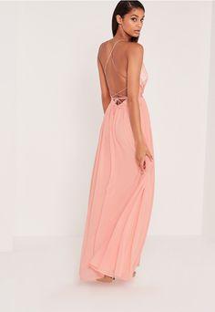 Carli Bybel Pleated Silky Maxi Dress Pink - Missguided Carli Bybel a2789859b